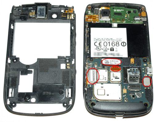 Blackberry 9800 torch - szétpattintani való csatlakozók