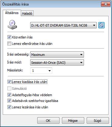 InfraRecorder íráspanel