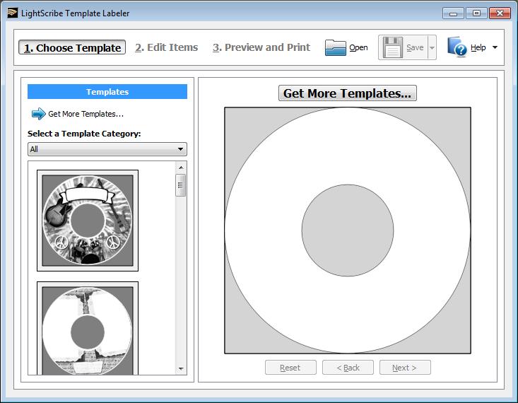 LightScribe Template Labeler kezdőkép