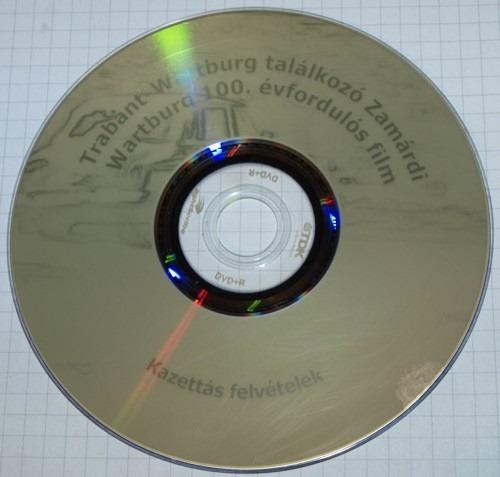 Az elkészült lemez