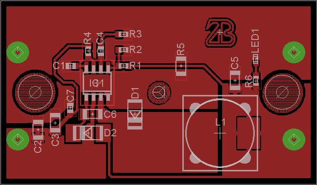 mp2303 alapú kapcsolóüzemű tápegység panelterv